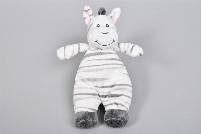 <h4>Zaza-zoo Zebra Rammelaar Knuffel 23cm</h4>