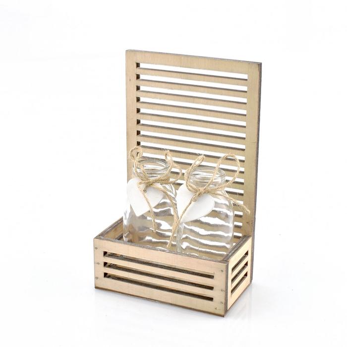<h4>Glas Bak stripe+2fles d5*10.5cm</h4>