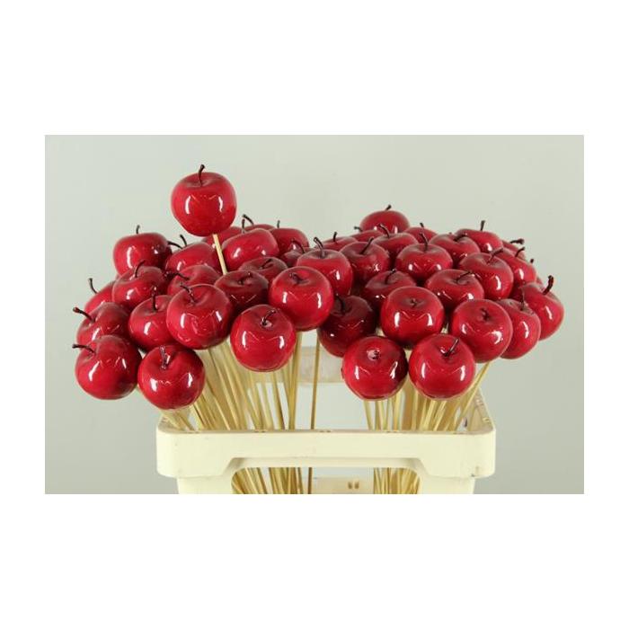 <h4>Stick Apple 5cm Red Satingloss</h4>