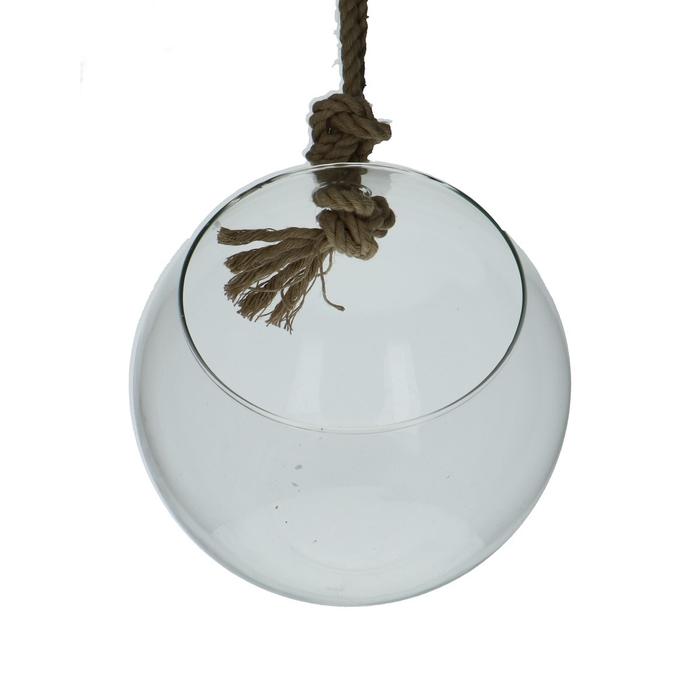 <h4>Glas Eco Hanger Bol+touw d20*17cm</h4>