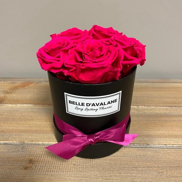Box rd 12cm zwart-fuchsia