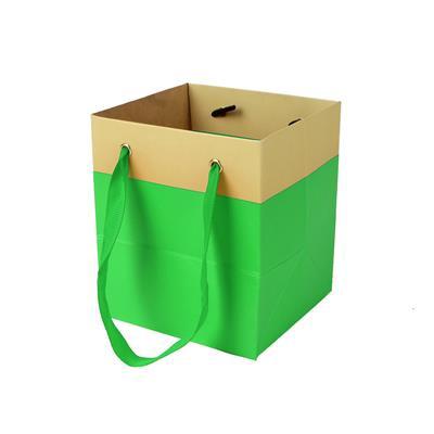 <h4>Bag Facile carton 9,5x9xH11cm green</h4>