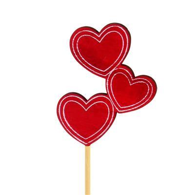 <h4>Pique le coeur trio bois 6x8cm+12cm stick</h4>