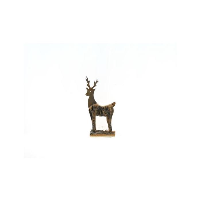 <h4>Fig. Wood+mtl. Deer 25x14cm</h4>