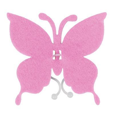 <h4>Butterfly felt 8x8,5cm + clip light pink</h4>