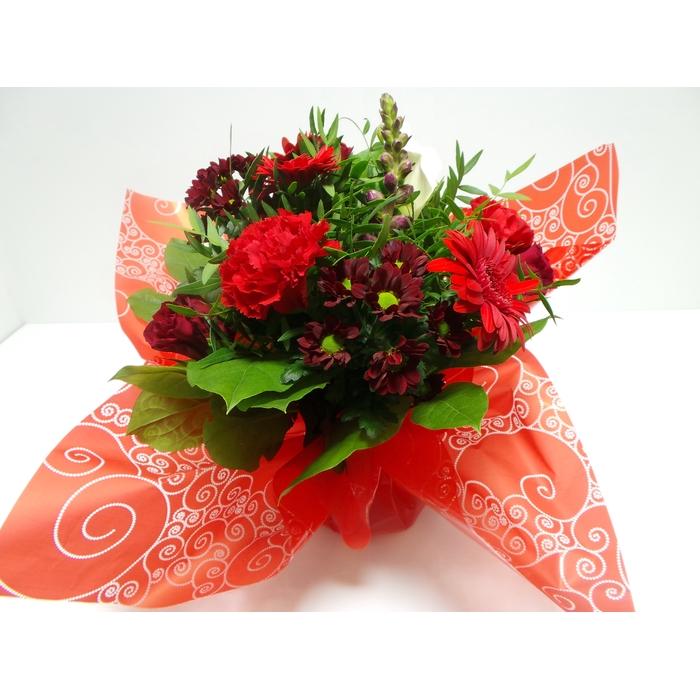 <h4>Bouquet Aqua Medium Red</h4>