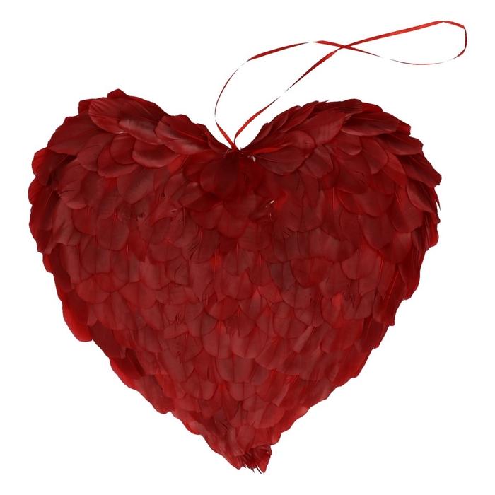 <h4>Valentijn Hart veren d31cm</h4>