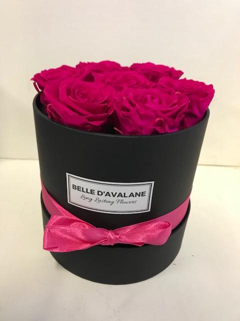 <h4>Flowerbox rd 15cm zwart/fuchsia</h4>