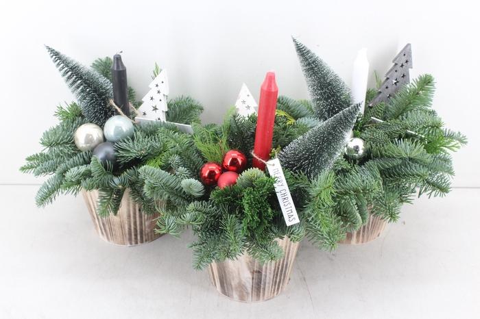 <h4>arr.. Kerst PL - Hout pot lange kaars</h4>