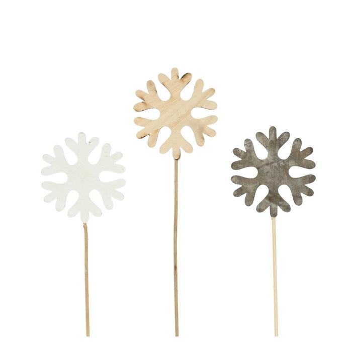 <h4>Christmas sticks 20cm Snowflake 7.5cm</h4>