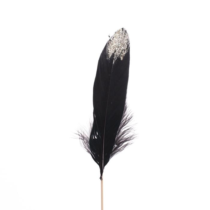 <h4>Christmas sticks 50cm Feather glitter 12cm</h4>