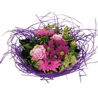 <h4>Bouquet holder woody Ø25cm lilac</h4>