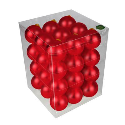 <h4>Boules de Noël 57mm mates rouge 36 pcs.</h4>