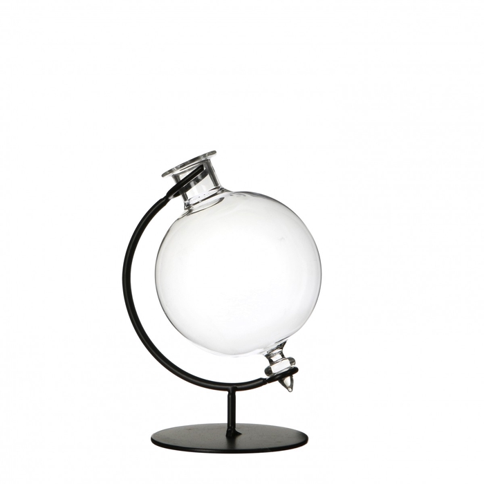 <h4>Glass Ball vase on stand d8*12cm</h4>