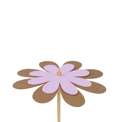 <h4>Bijsteker bloem kraft 8cm+50cm stok lila</h4>