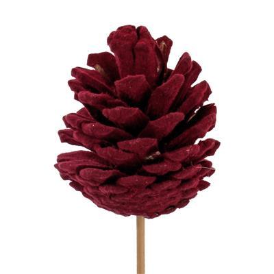 <h4>Pique cône du pin flock 5-6cm+50cm bâton rouge f.</h4>