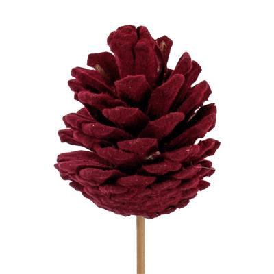 <h4>Pique cône du pin flock 5-6cm+12cm bâton rouge f.</h4>