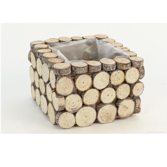<h4>Sale Planter woodslice sq d18*12cm</h4>