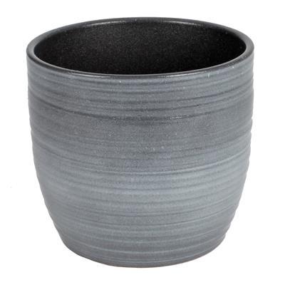 <h4>Pot Bergamo Céramique Ø14xH13cm gris</h4>