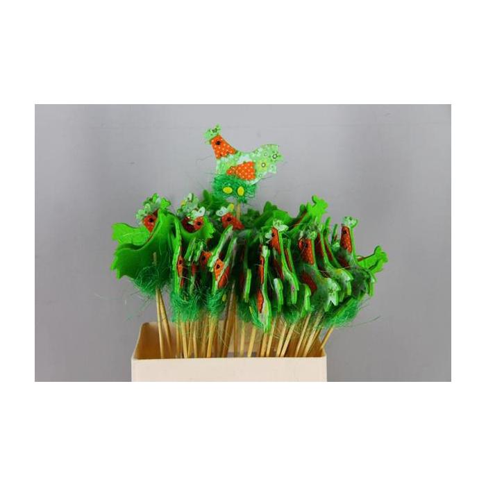 <h4>Stick Chicken Felt-nest Green</h4>