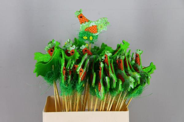 <h4>Stick Chicken Felt-nest Green</h4>