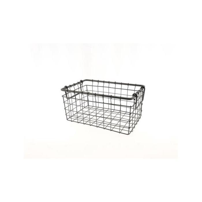 <h4>Basket Wire 30x24x14cm Black</h4>