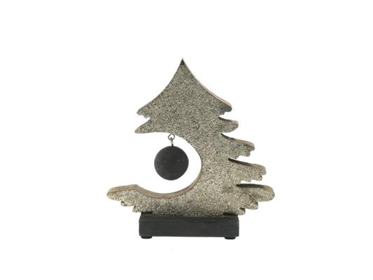 <h4>X-mas Tree+ball Wood 25cm Plat</h4>