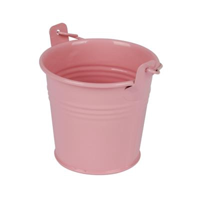 <h4>Bucket Sevilla zinc Ø8,2xH7,2cm - ES7 pink gloss</h4>