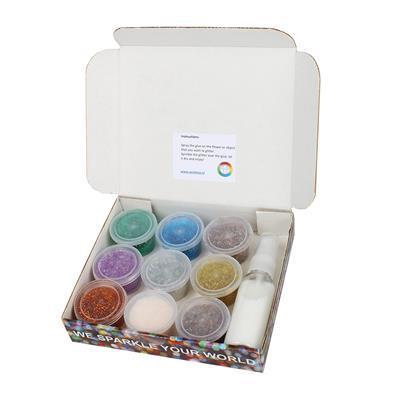 <h4>Kit de paillettes 9 couleurs - par boîte</h4>