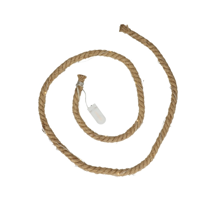 <h4>Decoration LED jute rope+15lights 1.5m</h4>