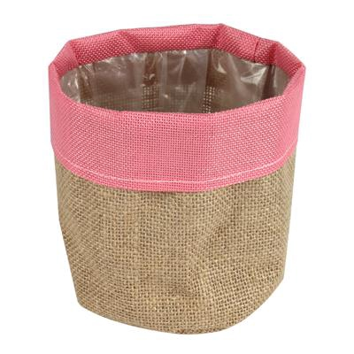 <h4>Pot facile jute Ø13xH13cm rose</h4>
