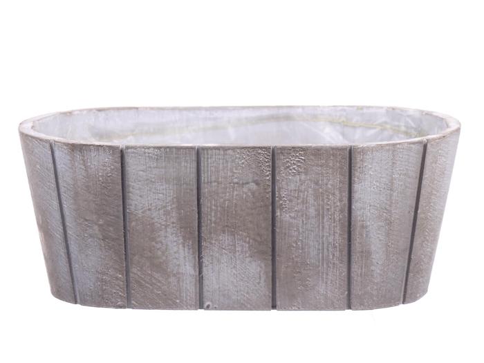 <h4>DF550090400 - Planter Arnelle 31x15.7xh12 white wash</h4>