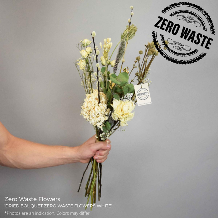 <h4>DRIED BQ ZERO WASTE FLOWERS WHITE</h4>