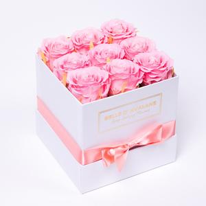 Box vk 15cm wit-roze