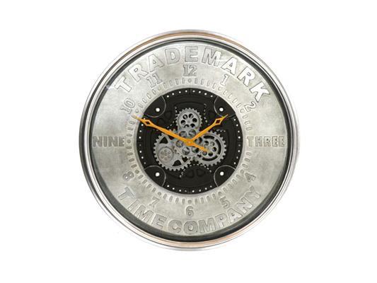 <h4>Clock Gear Ø 80cm Grey/black</h4>