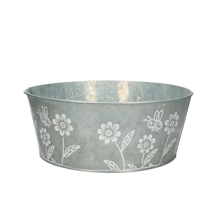 <h4>Zinc Flower bowl d25*10cm</h4>