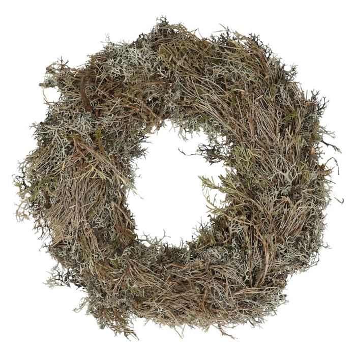 <h4>Wreath d30cm Moss+herb</h4>