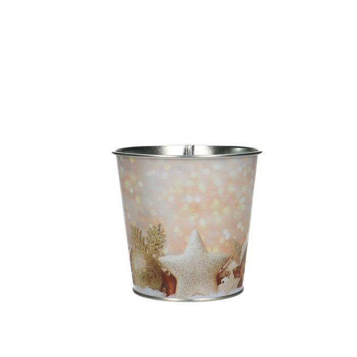 <h4>Christmas Pot Xmas glitter d10*10cm</h4>