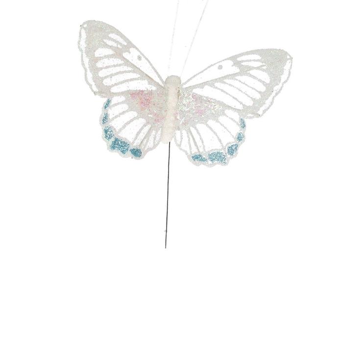 <h4>Voorjaar Vlinder glitter/draad 11cm</h4>