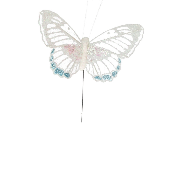 <h4>Christmas Butterfly glitter/wire 11cm</h4>