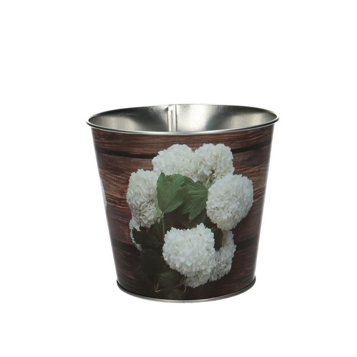 <h4>Zink Pot hortensia/hout d12*10.5cm</h4>
