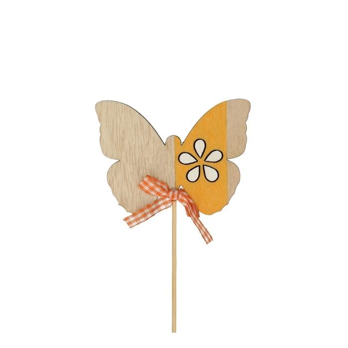 <h4>Bijsteker 20cm Vlinder hout 8.5cm</h4>