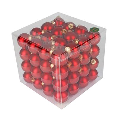 <h4>Boules de Noël 40mm mates rouge 64 pcs.</h4>