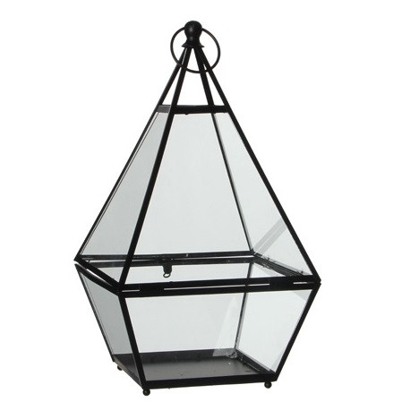 <h4>Lantaarn Lois glas d22/21*39cm</h4>