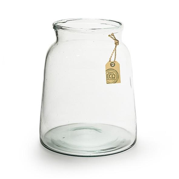 <h4>Glas Eco Vaas Eddy d17/21*22cm</h4>