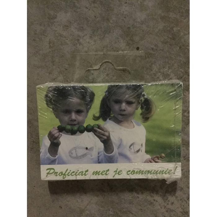 <h4>BLOEMENKAARTJE - Proficiat met je communie - 9*6cm - 50pcs</h4>
