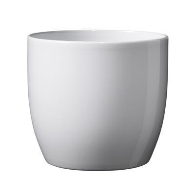 <h4>Pot Basel Céramique Ø14xH13cm blanc brilliant</h4>