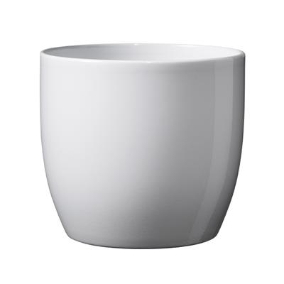 <h4>Pot Basel Céramique Ø14xH13cm blanc brilliant</h4>