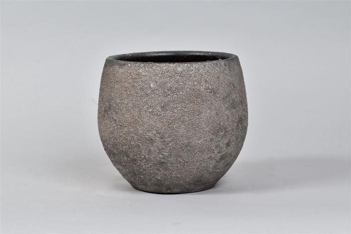 <h4>Bali Indonesian Grey Pot 18x16cm</h4>
