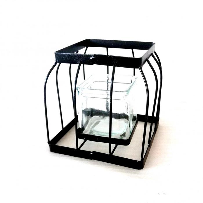 <h4>Glass Cage+hole square d18*19cm</h4>